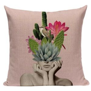 NWOT Art X Fashion Linen Pillow Cover